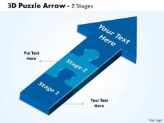 Strategy Diagram 3d Puzzle Arrow 2 Stages