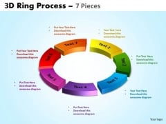 Strategy Diagram 3d Ring Process 7 Pieces Business Cycle Diagram