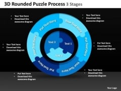 Strategy Diagram 3d Rounded Puzzle Process 3 Stages 4 Sales Diagram