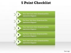 Strategy Diagram 5 Points Checklist Diagram Sales Diagram