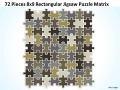 Strategy Diagram 72 Pieces 8x9 Rectangular Jigsaw Puzzle Matrix Business Diagram
