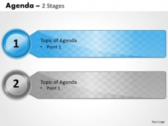 Strategy Diagram Agenda 2 Stages Business Cycle Diagram