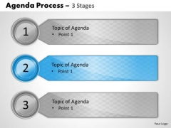 Strategy Diagram Agenda Process 3 Stages Sales Diagram