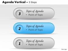 Strategy Diagram Agenda Vertical 3 Steps Business Diagram
