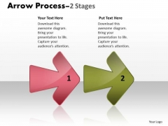 Strategy Diagram Arrow Process 2 Stages