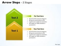 Strategy Diagram Arrow Steps 2 Stages Business Cycle Diagram