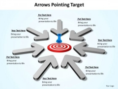 Strategy Diagram Arrows Pointing Target Consulting Diagram