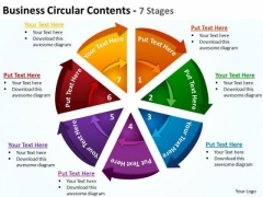Strategy Diagram Business Circular Contents 7 Stages 4 Sales Diagram