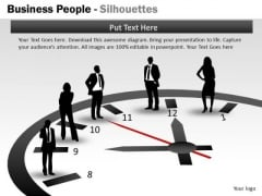 Strategy Diagram Business People Silhouettes Business Framework Model