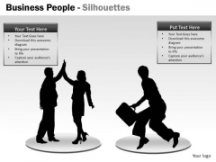 Strategy Diagram Business People Silhouettes Marketing Diagram