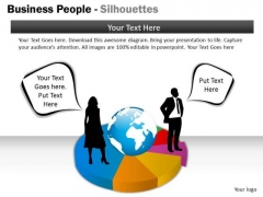 Strategy Diagram Business People Silhouettes Mba Models And Frameworks