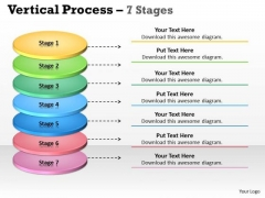 Strategy Diagram Business Vertical Process With 7 Stages Sales Diagram