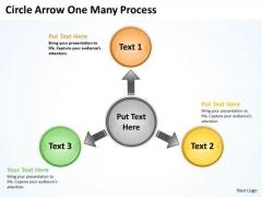 Strategy Diagram Circle Arrow One Many Process Marketing Diagram