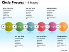 Strategy Diagram Circle Process 6 Stages Business Finance Strategy Development