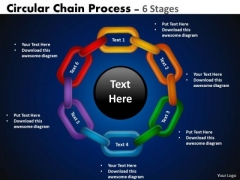 Strategy Diagram Circular Chain Flowchart Process Diagram 6 Stages Mba Models And Frameworks