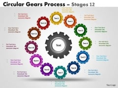 Strategy Diagram Circular Gears Flowchart Process Diagram Stages 12 Strategic Management