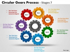Strategy Diagram Circular Gears Process Stages 7 Marketing Diagram