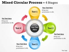 Strategy Diagram Circular Process 4 Stages For Business Strategic Management