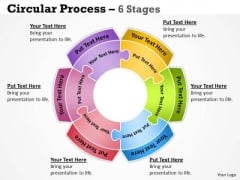 Strategy Diagram Circular Process 6 Diagram Stages Business Framework Model