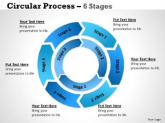 Strategy Diagram Circular Process 6 Stages 4 Sales Diagram