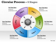 Strategy Diagram Circular Process 6 Stages Business Cycle Diagram