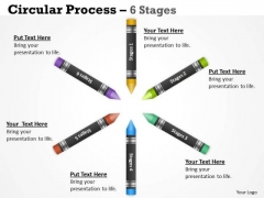 Strategy Diagram Circular Process 6 Stages Strategic Management