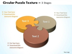 Strategy Diagram Circular Puzzle Texture 3 Stages Sales Diagram