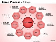 Strategy Diagram Comb Process 9 Stages Sales Diagram