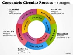 Strategy Diagram Concentric Circular Process 5 Stages 8 Sales Diagram