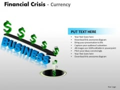 Strategy Diagram Financial Crisis Currency Marketing Diagram