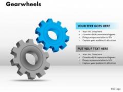 Strategy Diagram Gearwheels Business Framework Model