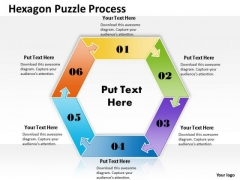 Strategy Diagram Hexagon Puzzle Process Business Cycle Diagram