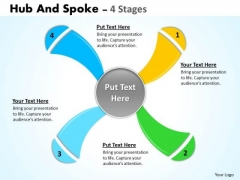 Strategy Diagram Hub And Spoke 4 Stages Consulting Diagram