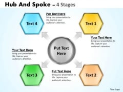 Strategy Diagram Hub And Spoke 4 Stages Sales Diagram