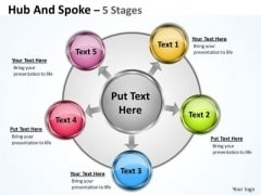 Strategy Diagram Hub And Spoke 5 Stages Sales Diagram