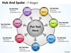 Strategy Diagram Hub And Spoke 7 Stages Consulting Diagram