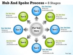 Strategy Diagram Hub And Spoke Process 8 Stages Business Diagram