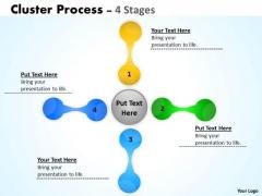 Strategy Diagram Interconnected Business Flow Cluster Development Sales Diagram