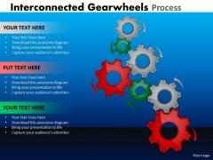 Strategy Diagram Interconnected Gearwheels Process Business Framework Model
