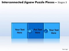 Strategy Diagram Interconnected Jigsaw Puzzle Pieces Stages 3 Consulting Diagram