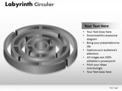 Strategy Diagram Labyrinth Circular Marketing Diagram