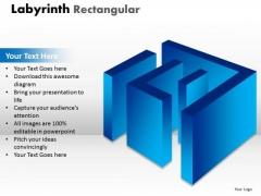 Strategy Diagram Labyrinth Rectangular Blue Modal Business Framework Model