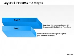 Strategy Diagram Layered Process With 2 Stages Business Diagram