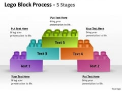 Strategy Diagram Lego Block Process 5 Stages Business Diagram