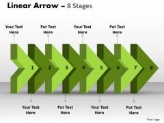 Strategy Diagram Linear Arrow 8 Stages Sales Diagram