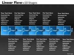 Strategy Diagram Linear Flow 10 Stages Sales Diagram