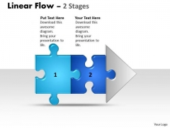 Strategy Diagram Linear Flow 2 Stages Business Cycle Diagram