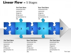 Strategy Diagram Linear Flow 5 Stages Business Diagram