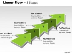Strategy Diagram Linear Flow 5 Stages Strategic Management Marketing Diagram