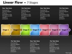 Strategy Diagram Linear Flow 7 Stages Sales Diagram